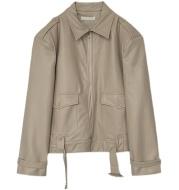 Trendy Short Leather Jacket Mens Handsome Loose Lapel Top