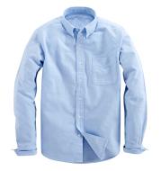 Men's Plaid White Long Sleeve Trendy Spring Summer Top