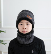 Wool Hat Neck Set Winter Plush And Thick Warm Knit Children's Hat