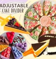 Adjustable Cake Divider Slicer Triangle Baking Pastry Divider Plastic Baking Cutter Reusable Cakes Knife