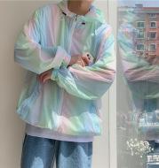 2021 New Colorful Sunscreen Clothes Men's Summer Loose Sunshade Sports Thin Coat Jacket