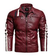 Men'S Leather Clothing Tide Motorcycle Leather Jacket Washed Plus Cotton Leather Jacket