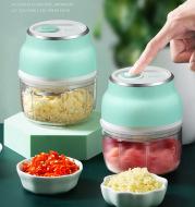 Portable Electric Mini Garlic Cutter Masher Vegetable Fruit Meat Food Chopper Grinder