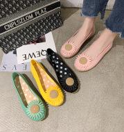 Summer Chrysanthemum Rain Boots Ladies Low-Top Water Shoes Rain Boots Non-Slip Work Fashion Slope Heel Pumps Korean Cute