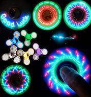 Luminous LED Light Fidget Spinner Hand Top Spinners Glow in Dark Light