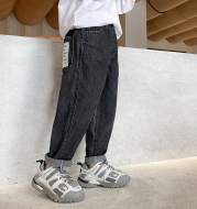Boys' Jeans Spring And Autumn Trousers 2021 Spring New Children's Clothing, Big Children's Pants, Boys Korean Style