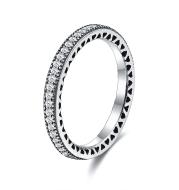 Full Diamond Proposal Diamond Ring Female 925 Silver Ring