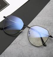 Glasses Myopia With Degree With Glasses Frame Female Korean Retro Metal Round Face Glasses Frame Super Light