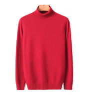 Men's High-neck Thick Warm Solid Color Casual Sweater