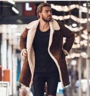 Men's Warm Coat With Fleece Composite Suede