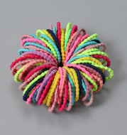 100 Children's Hair Tie Hair Rope Girl Candy Color Rubber Band