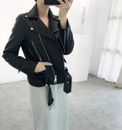 Spring New Korean Style Temperament Short Leather Women's Skinny Motorcycle Leather Jacket Coat Trend