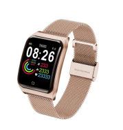 F9 Color Screen Smart Bracelet Large Screen Metal Belt Heart Rate Blood Pressure Waterproof
