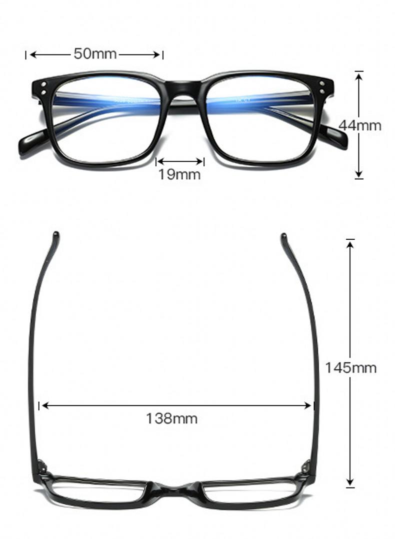 Anti Blue Light Blocking Square Glasses 56521 24
