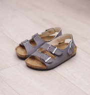Children's Cork Sandals, One-Word Shoes, Flip-Flops, Beach Double Rings