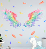 Colorful Color Angel Wings Net Red Wall Stickers Ins Wind Photo Wall Decoration