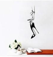 Hand Carry High Heels Carved Bedroom Background