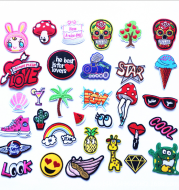 Computer Embroidery Cartoon Fruit Cloth Stickers Fashion Patch Patches