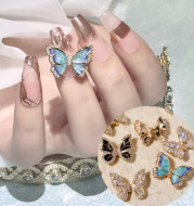 Moving Smart Butterfly Nail Art Jewelry