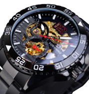 European And American Style Men'S Fashion Casual Hollow Watch