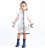 Baby Waterproof Raincoat Polyester Boys Girls Clothes Fashion Rainwear Kid Transparency Jacket Coat Rainwear Children Rainsuit