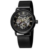 European And American Men'S Fashion Casual Retro Hollow Mesh Belt Waterproof Manual Mechanical Watch