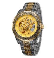 New Mechanical Watch Men'S Personality Business Retro Creative Fashion Dark Pattern Luminous