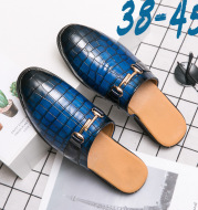 Men'S Slippers, Half-Up Shoes, Men'S Trend, Outer Wear, Half-Up Shoes, Men'S Shoes Without Heels