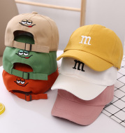 Baseball Cap Boy Letter M Embroidered Children's Cotton Spring and Autumn Hat Cap