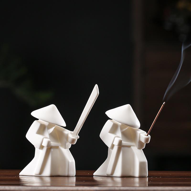 Ceramic Warrior Incense Burner Tray 9