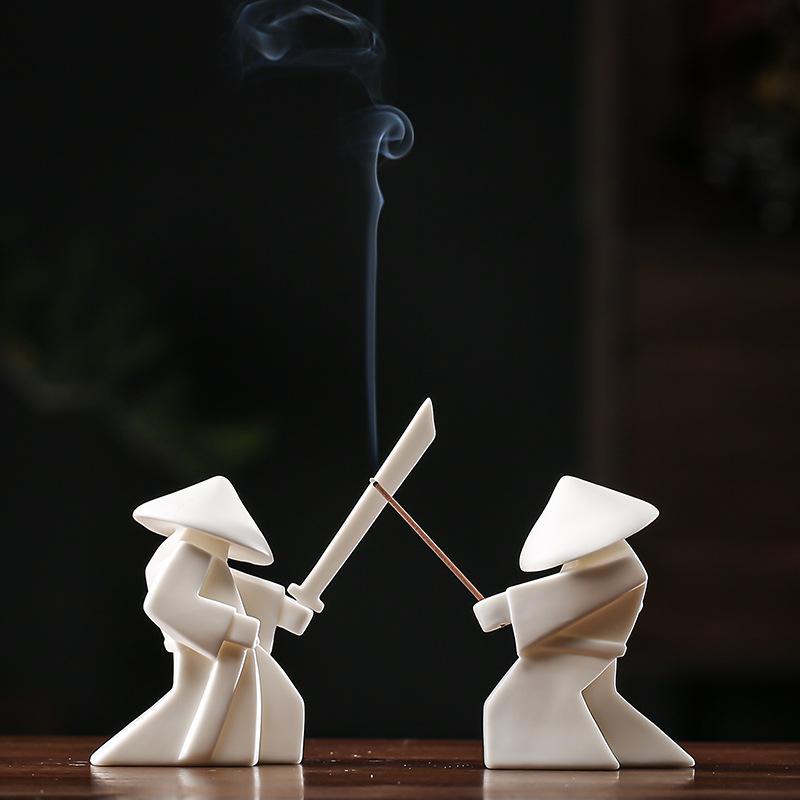 Ceramic Warrior Incense Burner Tray 7