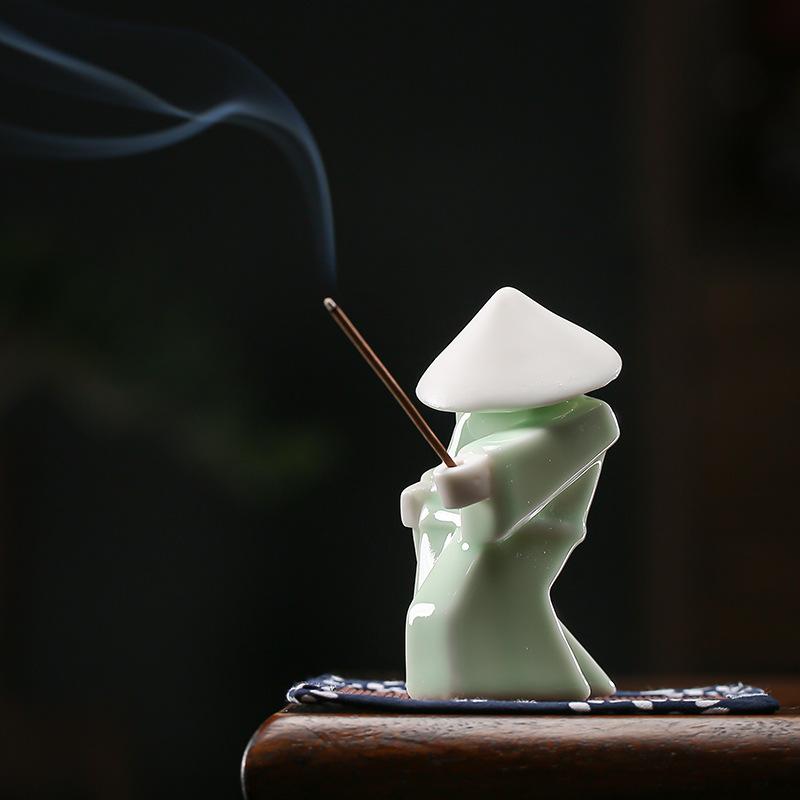 Ceramic Warrior Incense Burner Tray 8