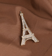 Eiffel Tower Brooch Alloy Plating Clothes Accessories Brooch