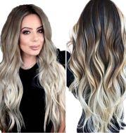 Wig Female Long Curly Hair, Big Wave, Bangs, Straight Hair, Temperament, Long Hair