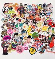 100 Unique European And American Personality Creative Stickers