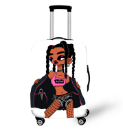 Nopersonality African Art Girl Travel Accessories Luggage Cover Suitcase Protection Baggage Dust Cover Stretch Fabrics 18-30inch