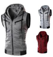 Spring And Summer New Men's Hooded Casual Vest