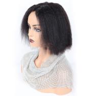 Kinky Straight Front Human Hair wigs
