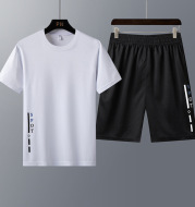 New Short-Sleeved T-Shirt Youth Trend Two-Piece Sportswear