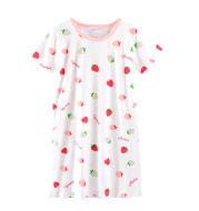 Children's Pajamas Summer Short-Sleeved Girls Nightdress Cotton