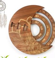Wooden Wall Calendar Custom Round Perpetual Calendar