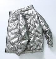 New Winter Trendy Handsome Fashion Brand Short Lightweight Bright White Duck Down Winter Coat