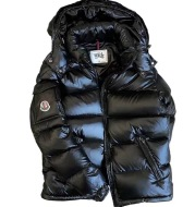 Down Jacket Thickened Short Shiny Hooded Warmth Super Thick White Duck Down Cold-proof Down Jacket