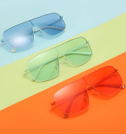 One-piece Sunglasses Female Personality Color Glasses Ins Street Fashion Trendy Sunglasses