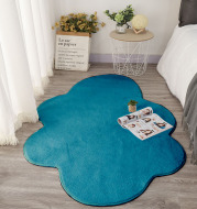 Cute White Cloud Floor Mat, Bedside Mat, Photo Carpet