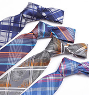 Tie Men's Polyester Jacquard Yarn-Dyed Fabric