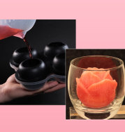 3D Large Rose Flower Food Grade Silicone Ice Molds Whisky Hockey Model Chocolate Jelly Candle Resin Clay Bar Ice Mould
