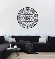 Round Triangle Pattern Sticker Living Room Sleeping