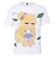Anime Digital Color Printing Summer 3D Short-Sleeved T-Shirt