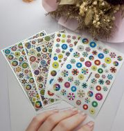 DIY Japanese Thin Transparent Adhesive Nail Stickers Murakami Sunflower September New Syle Factory Direct Supply